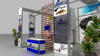 fair stand exhibition 3d 3ds