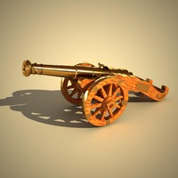 cannon wood 3d model