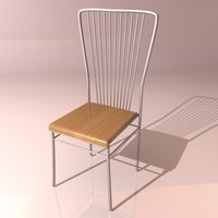 metallic chair 3d 3ds