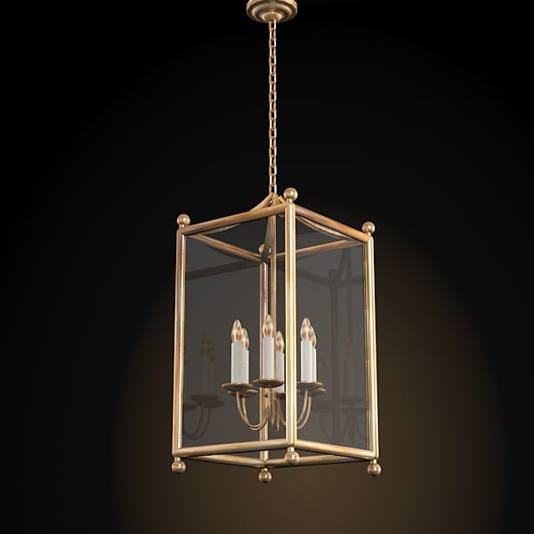 Searched 3d models for lantern pendant chandelier classic lantern pendant suspension cage candle chandelier mozeypictures Gallery