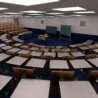 3d classroom class room model