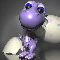 Baby dino cartoon RIGGED
