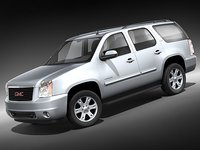 gmc yukon 2008 suv 3d model