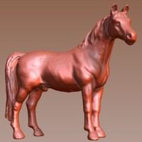 scanned horse 3d model