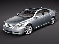 3d lexus ls 600 h model