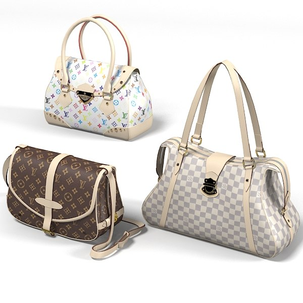 louis vuitton women bag luxury handbag hand accessory  brown realistic bags collection set.jpg