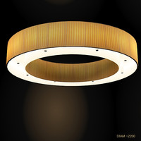modern contemporary circle round tube chandelier big ceiling