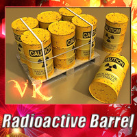 Radioactive barrel + pallet + High resolution textures