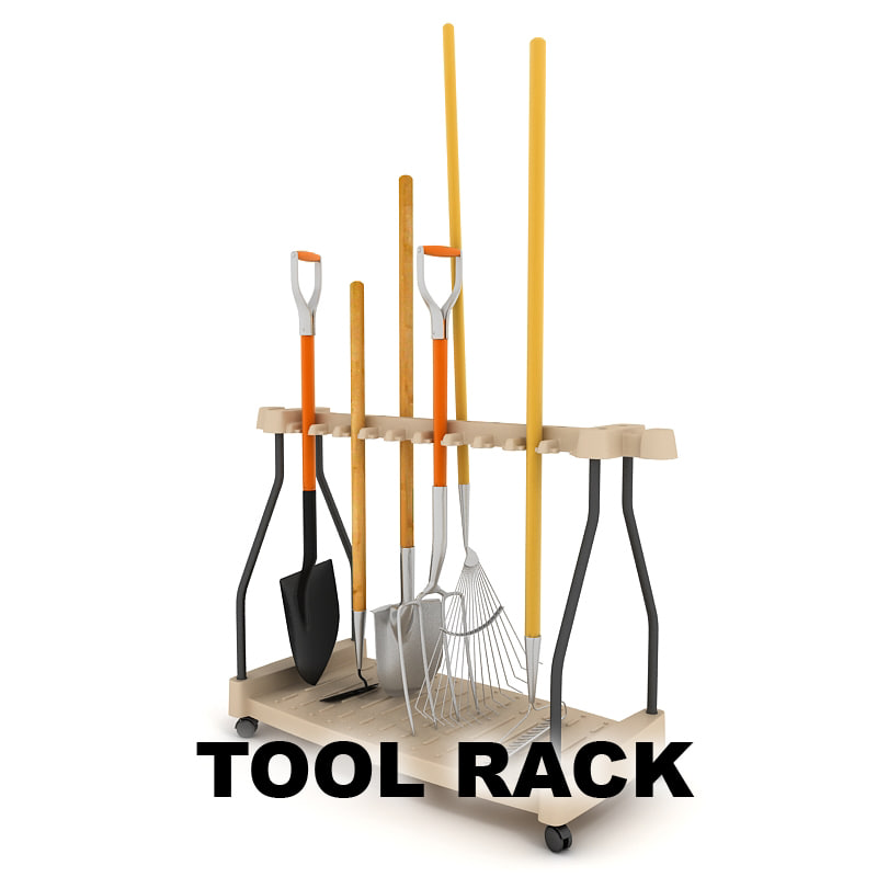Fbx garden tool rack for Gardening tools 3d model