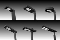 3d model street led lighting