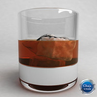 3ds max whiskey glass