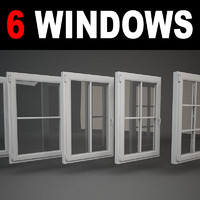 3d model window hinges