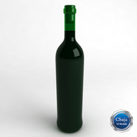 bottle wine 3d model
