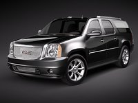 3d gmc yukon denali xl model
