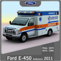 3d model e-450 ambulance games