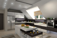 3ds max kitchen interior