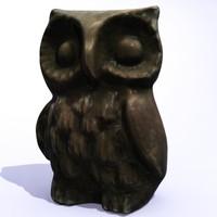 owl statue 3d model