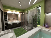 bathroom interior scene 3d max