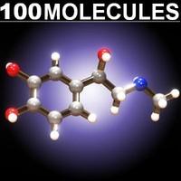 100 molecules 3d model