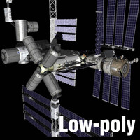 iss international space 3d model