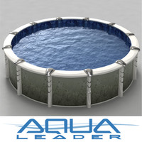 3d ground pool 18inch creation model