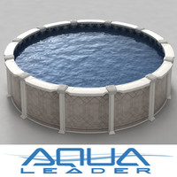 3d model ground pool