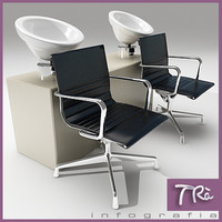 3ds max backwash beauty hairdresser