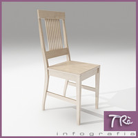 3dsmax kitchen room chair wood