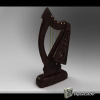 harp stringed c4d