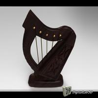 3d harp stringed
