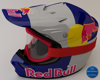 RedBull Helmet and Goggles