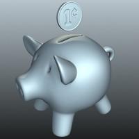 bank penny 3d model