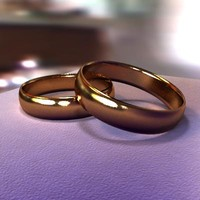 3d wedding rings
