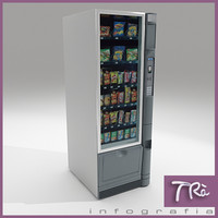 3d model snacks vending machine
