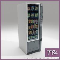 3d model snacks vending machine