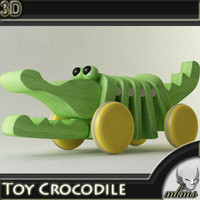 3d model toy crocodile