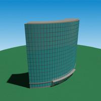 3d model realistic skyscraper hotel