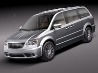 chrysler town country 2011 3d model