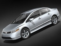 honda civic 2007 sedan 3d max