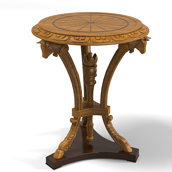 classic empire baroqnue antique carved wooden round coffee side table.jpg