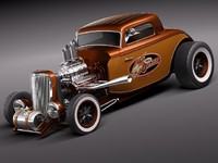 1933 1934 34 hot rod 3d model
