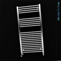 3d heated towel rail model