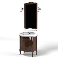 kerasan retro bathroom furniture  vanity unit Walnut cabinet for basin mirror tap lavatory mixer classic ancient