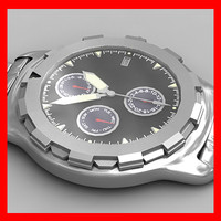watch clock wristwatch 3d model