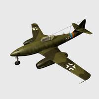 3d me-262 messerschmitt 262 schwalbe
