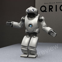 3d model qrio sony robot biped