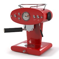 Francis Francis Coffee machine red
