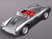 porsche spyder 1955 sport 3d model