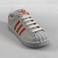 sneakers old-school superstar 3d model