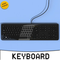 3d keyboard modeled computer